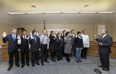 Gov. Patrick swears in new members of GLBT Youth Commission